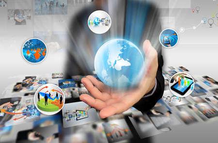 Social media,social network concept. Stock Photo
