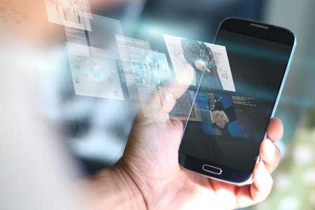 digital media: Social media concept.