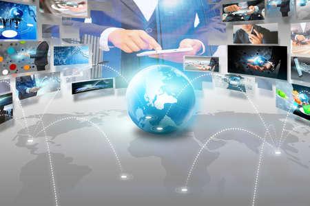 social network concept. Banque d'images
