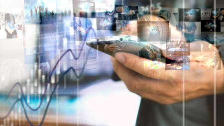 digital modern: Social media concept.