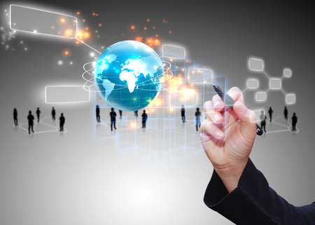 Media: Social media,social network concept. Stock Photo