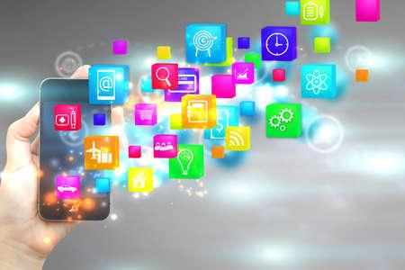 Social-Media-Konzept Symbole