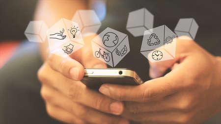 marketing strategy: Social media concept.