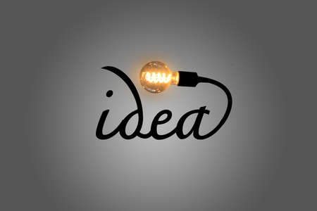 Creative light bulb. idea concept