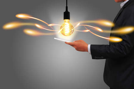 creative concept: Creative light bulb. idea concept