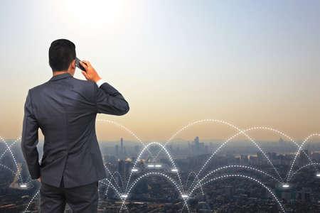 conexiones: Concepto de conexión de negocios.