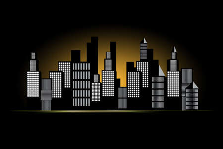building exteriors: illustration Cityscape. Stock Photo