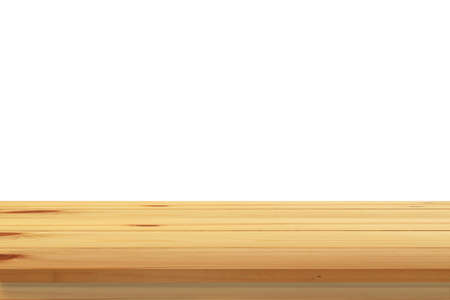 wooden deck: Emptyw wooden deck table. Stock Photo