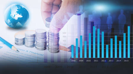 charts graphs: Business graph background. financial graph Stock Photo