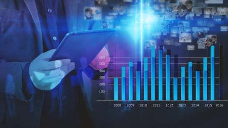 Schema di analisi d'affari. Grafico di affari.