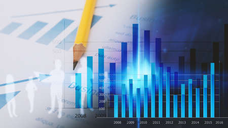 financial graph: Business graph background. financial graph Stock Photo
