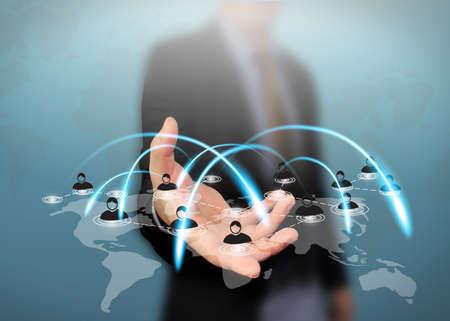 comunicação: Conceito social da rede. Banco de Imagens