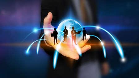 Social network concept.data communication. Stock Photo