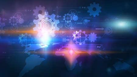 Digital technology concept,Social media,social network
