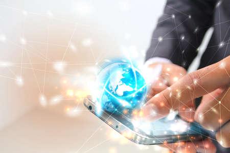 international internet: Social network concept.