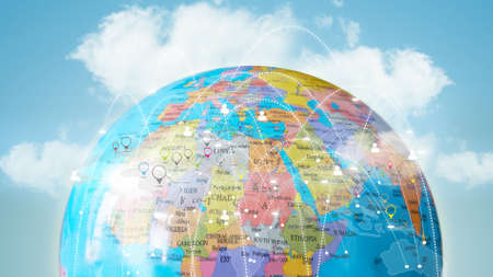 Global network concept.
