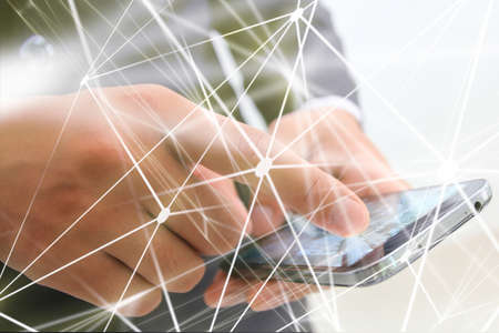 World connected. Abstract technology network. Stock Photo