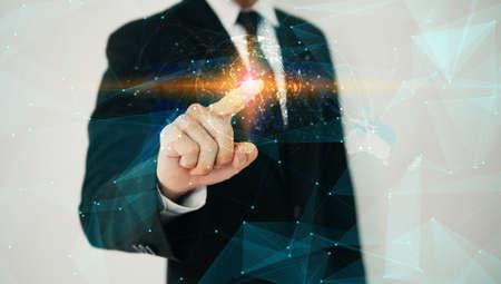 Business connection concept. Social network Фото со стока