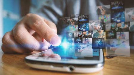 Social media concept Фото со стока