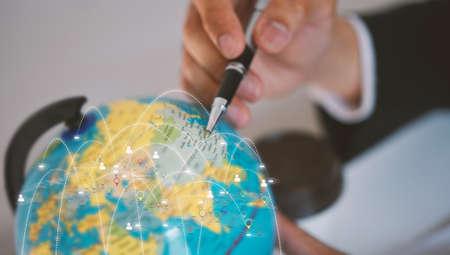 global business management concept Фото со стока