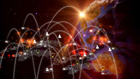 Global network concept Фото со стока