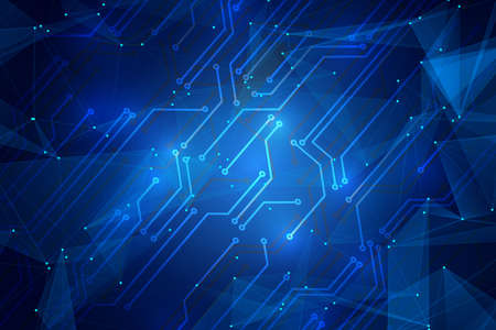 Abstract digital circuit background. AI(Artificial Intelligence) concept. Stock Photo