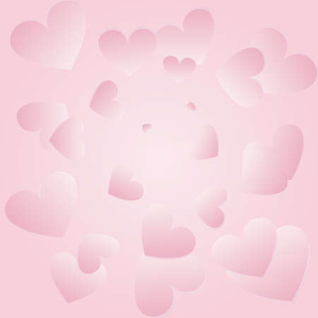 rozovoy background with hearts Vector