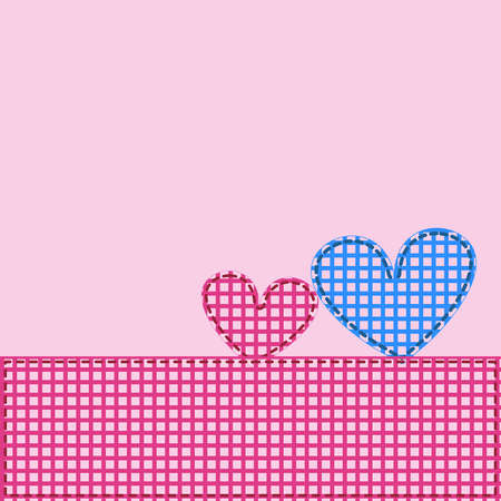 A pair of hearts, application Stock Vector - 16461424