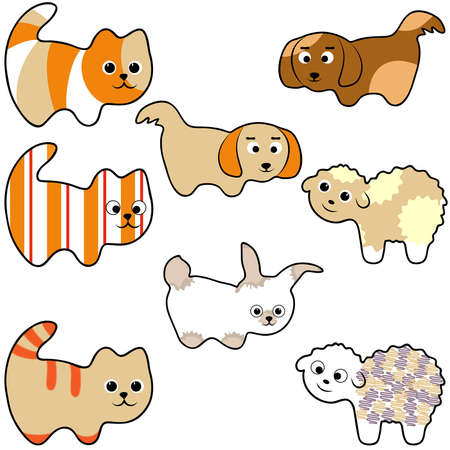 set of young animals Stock Vector - 18003385