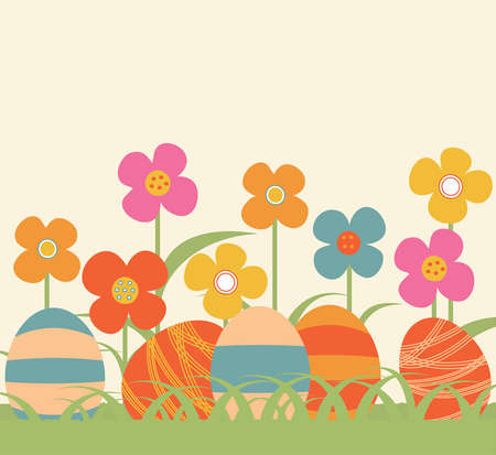 Easter floral background Stock Vector - 18410863