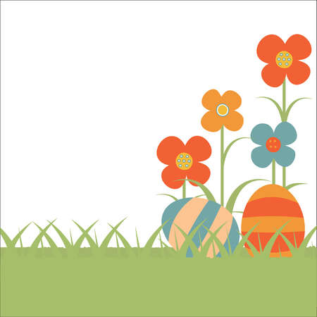 floral background for Easter Stock Vector - 18436809