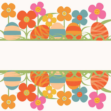 floral background for Easter Stock Vector - 18442890