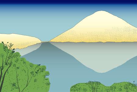Hintergrund stilisierte japanische Drucke Illustration