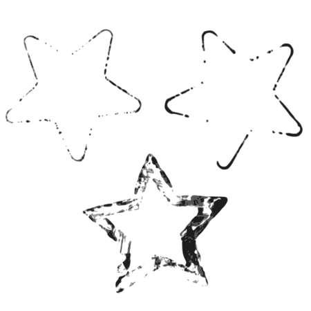 prints of stars, the global color Illustration