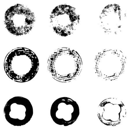a set of circles, prints, global color Illustration