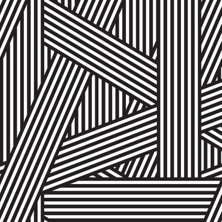 Abstract seamless background. It is intersecting black and white stripes