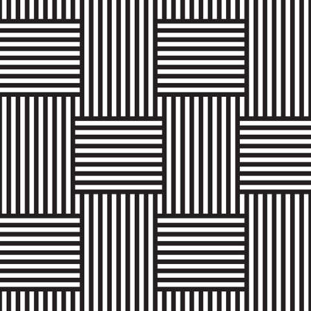 Abstract seamless background. Black-and-white stripes. Intertwined Illustration