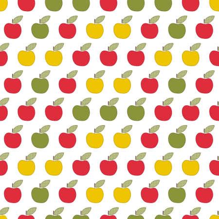 seamless pattern, applique apples
