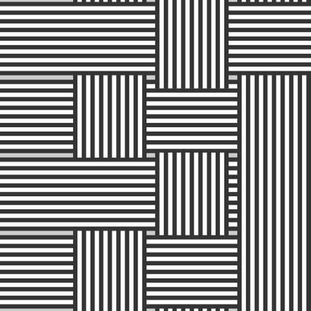 Seamless background with intertwined black and white stripes