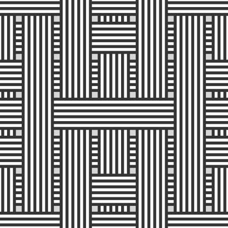 Abstract seamless background with intertwining black and white stripes Illustration