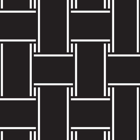 intertwined: Abstract seamless background. Black-and-white stripes. Intertwined.  Vector illustration
