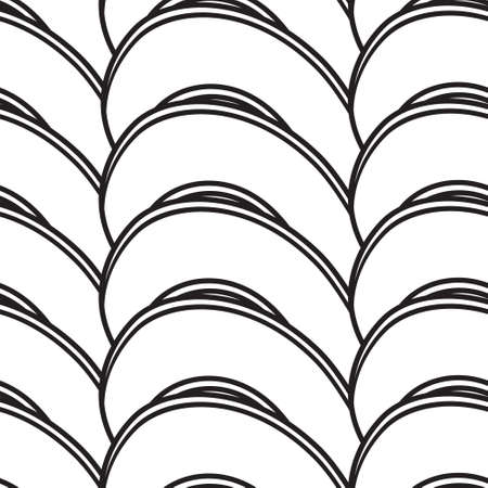 abstract seamless background with curving lines Illustration