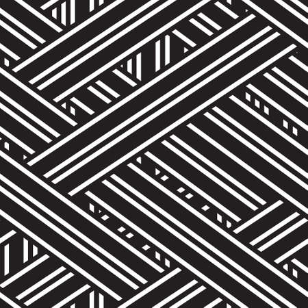 vector seamless background with black and white stripes