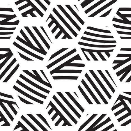 vector seamless geometric pattern, polygons from lines