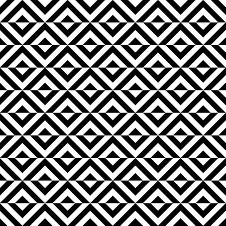 Seamless vector abstract background with black and white rhombuses