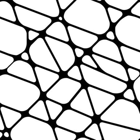 Seamless black-and-white background with lines of merging Illustration