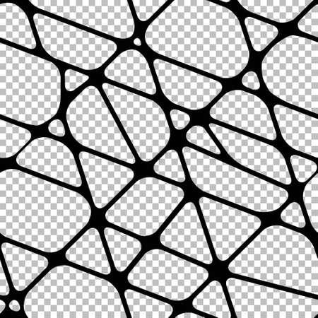 Seamless transparent background with black merging stripes Illustration