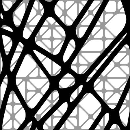 Seamless abstract volumetric background with black  converging lines