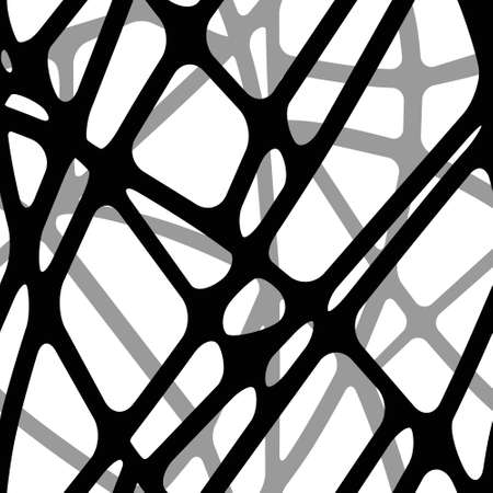 Seamless volume background of intersecting black lines