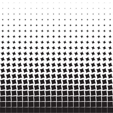 Abstract geometric background of black turning squares, rhombuses,halftone Illustration